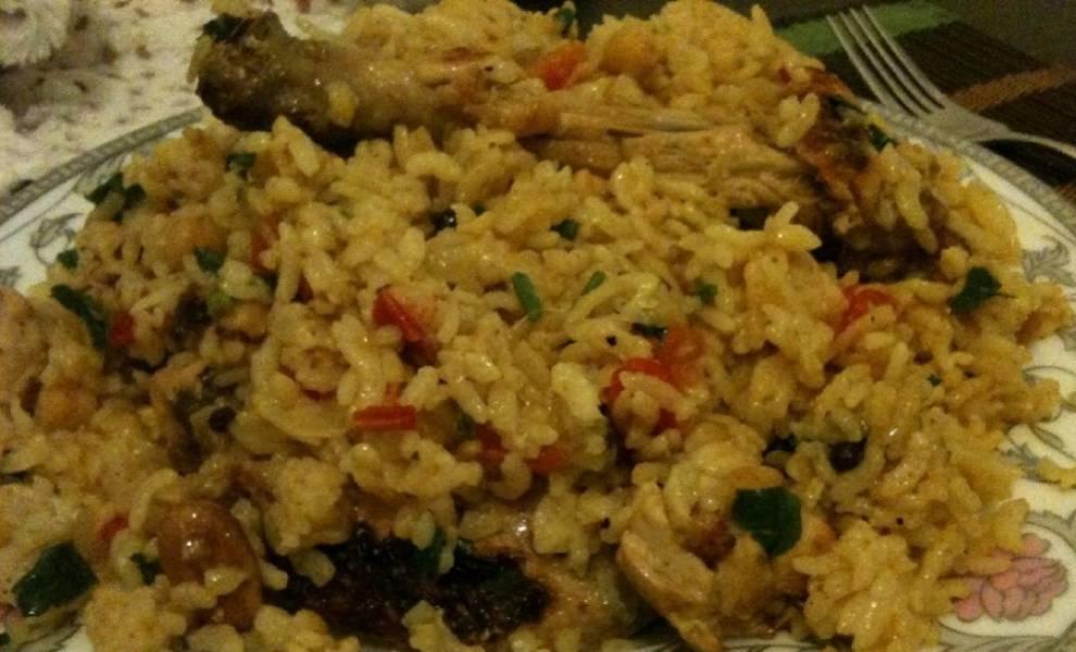 Рис по-восточному с курицей - пошаговый рецепт