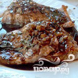 Филе лосося в бальзамической глазури