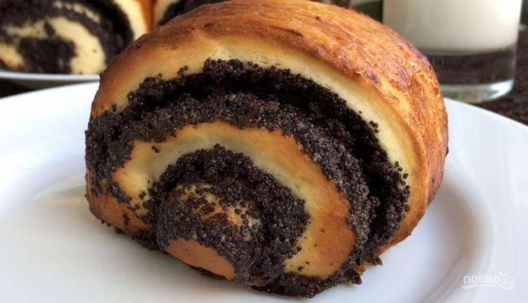 Домашние булочки с маком - пошаговый рецепт