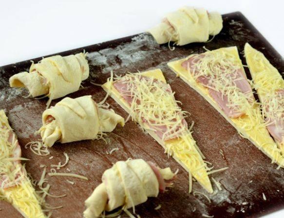 Круассаны с сыром и ветчиной - пошаговый рецепт
