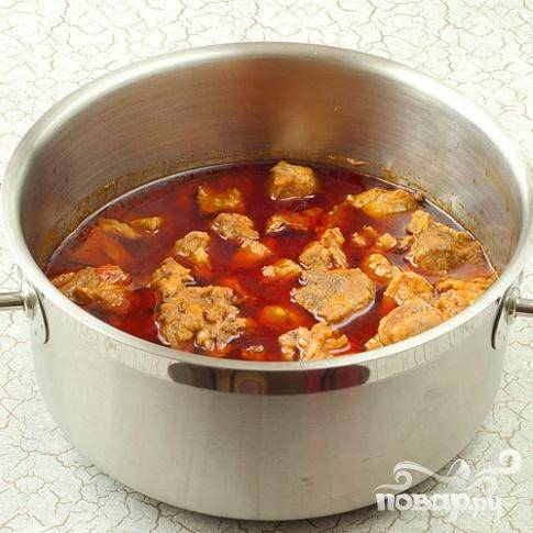 Капуста тушеная с мясом - пошаговый рецепт