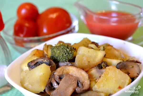 Брокколи с грибами в мультиварке - пошаговый рецепт с фото на