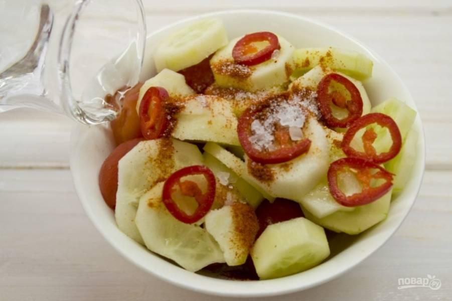 Суп - Гаспачо - из помидоров - пошаговый рецепт