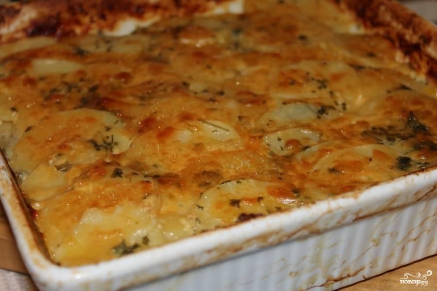 Запеканка из картофеля с луком-пореем