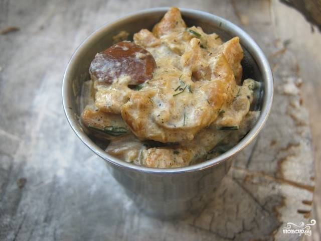 Грибной соус из замороженных грибов