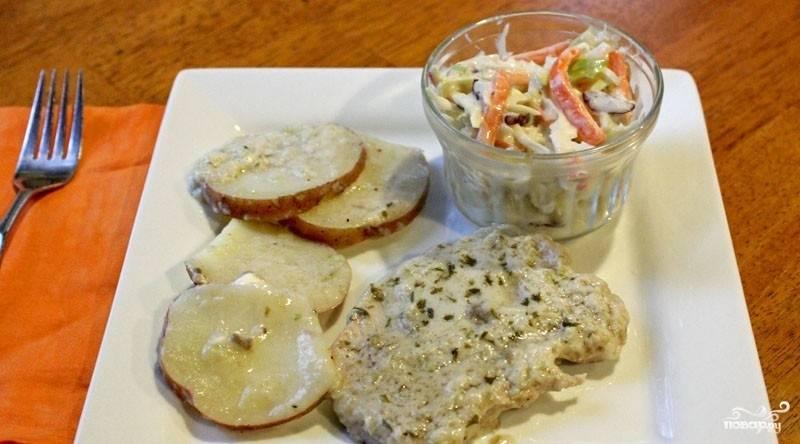 Свинина со сливками в духовке - пошаговый рецепт с фото на