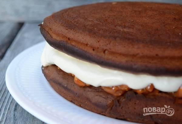 Торт - Сникерс - с крекером - пошаговый рецепт с фото на