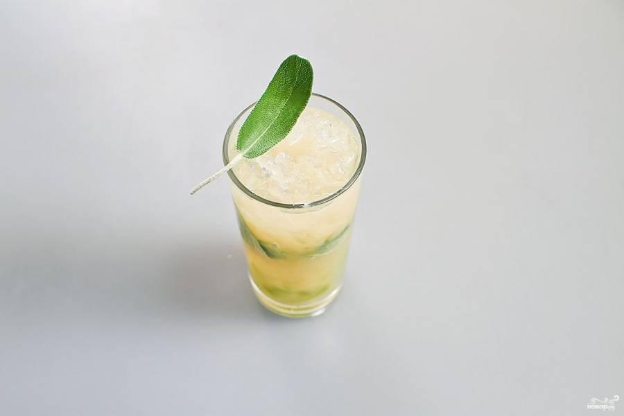 Грушевый лимонад с шалфеем