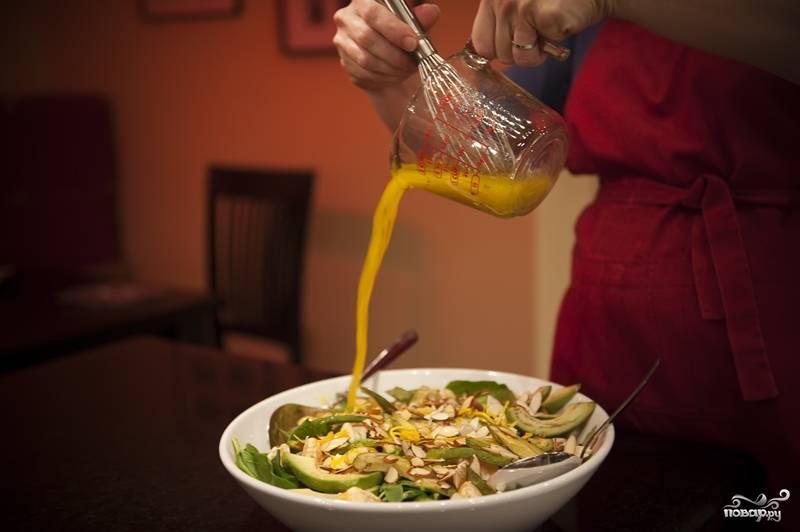 Салат с мандаринами - пошаговый рецепт с фото на