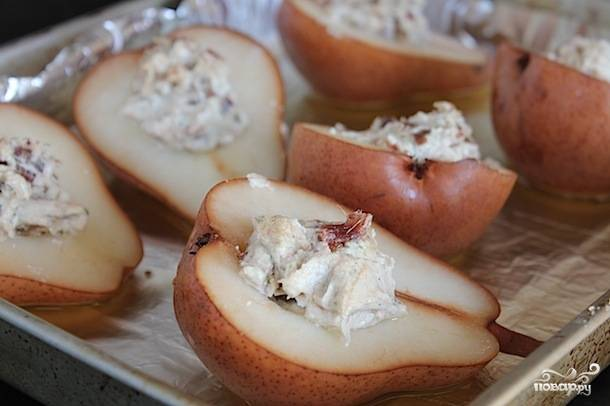 Груша, фаршированная креветками и сыром - пошаговый рецепт с фото на