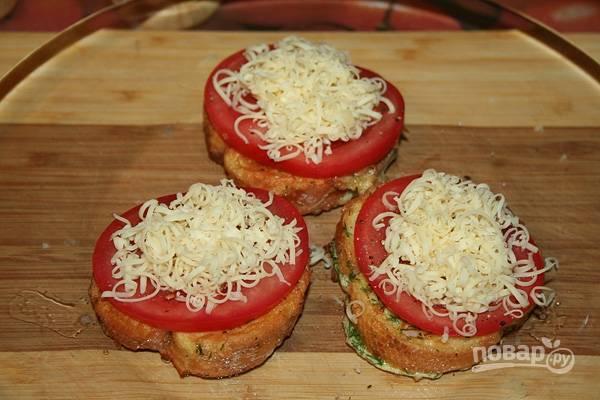 Гренки с помидорами и сыром в духовке - пошаговый рецепт