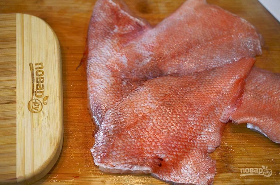 Морской окунь с табуле из киноа - пошаговый рецепт