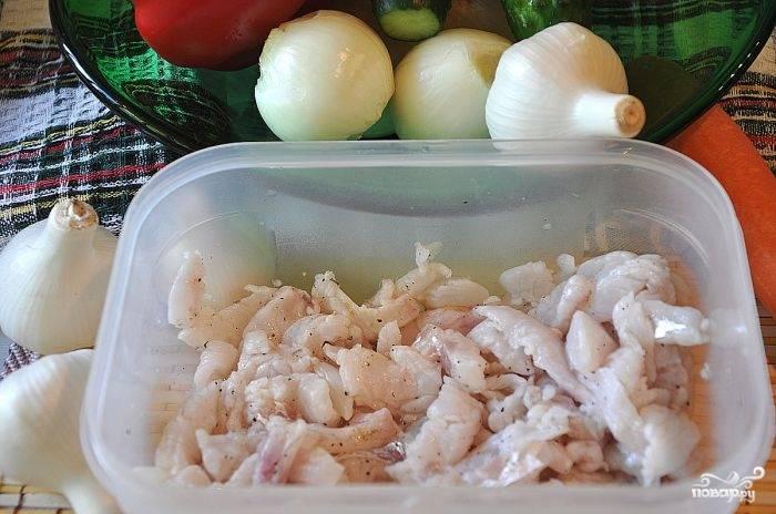 Рыба - Хе - по-корейски - пошаговый рецепт