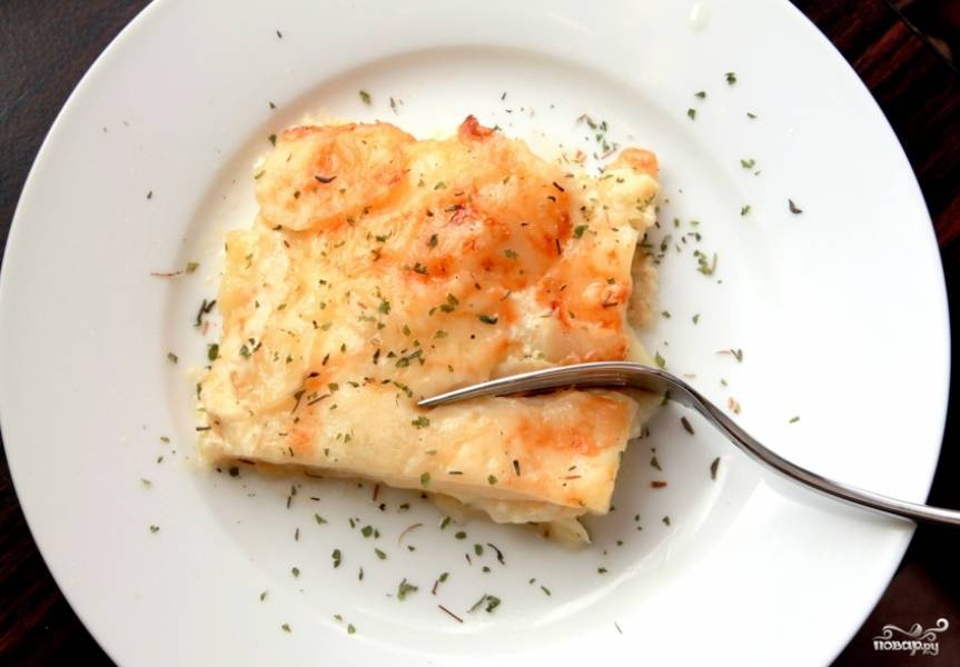 Картофель в молоке