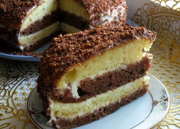 14. Оставьте тортик, чтобы он хорошо пропитался. Приятного чаепития!