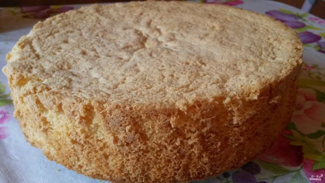 Бисквитно-кремовый торт - пошаговый рецепт