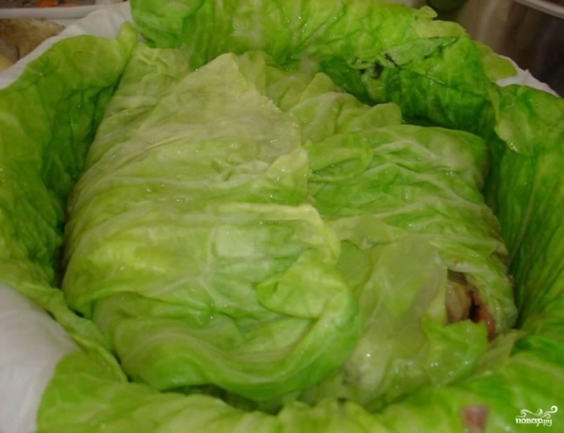 Капуста, фаршированная мясом - пошаговый рецепт