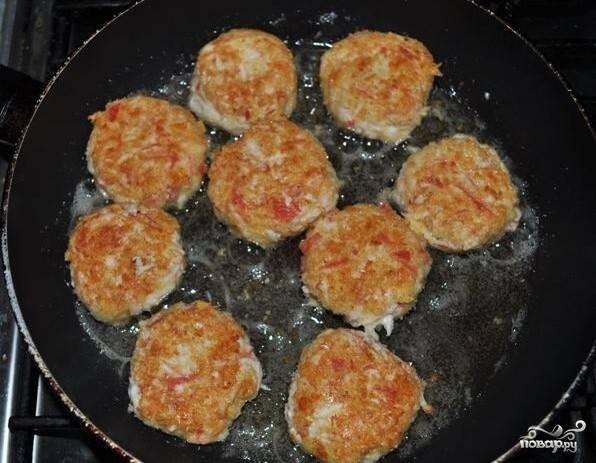 Крабовые котлеты с сыром - пошаговый рецепт