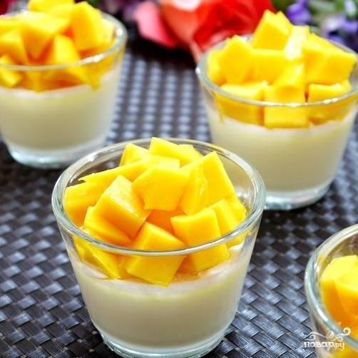 Кокосовое желе с манго - пошаговый рецепт