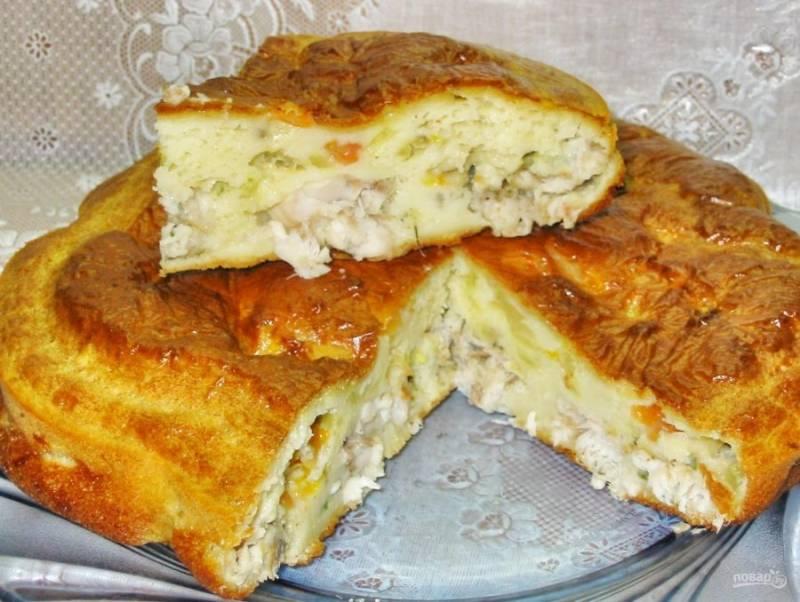 Пирог с рыбой - пошаговый рецепт