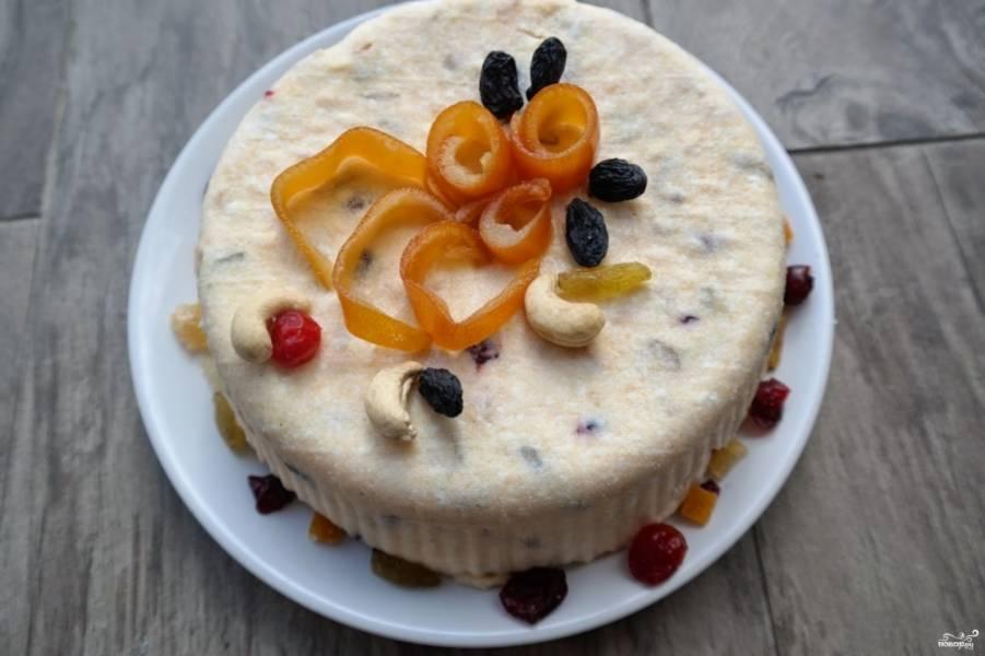Творожный - кулич - на Пасху без выпечки - пошаговый рецепт с фото на