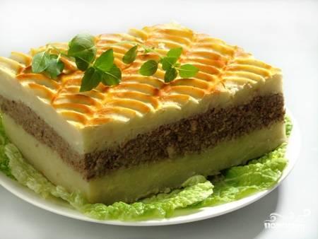 Картофельная запеканка с печенкой