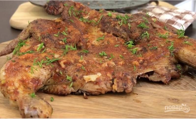 Цыплёнок табака (таПака) - пошаговый рецепт