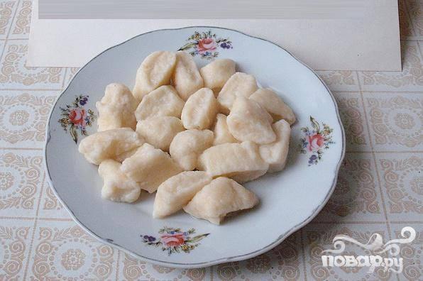 Галушки из творога рецепт с фото пошагово