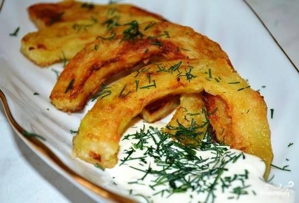 Кабачки в чесночном соусе