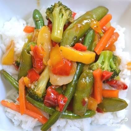 Кисло-сладкий овощной стир-фрай - пошаговый рецепт с фото на
