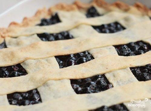 Бездрожжевой черничный пирог