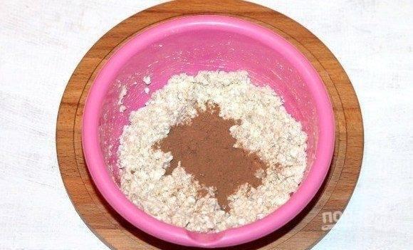 Шоколадно-творожная запеканка с отрубями - пошаговый рецепт