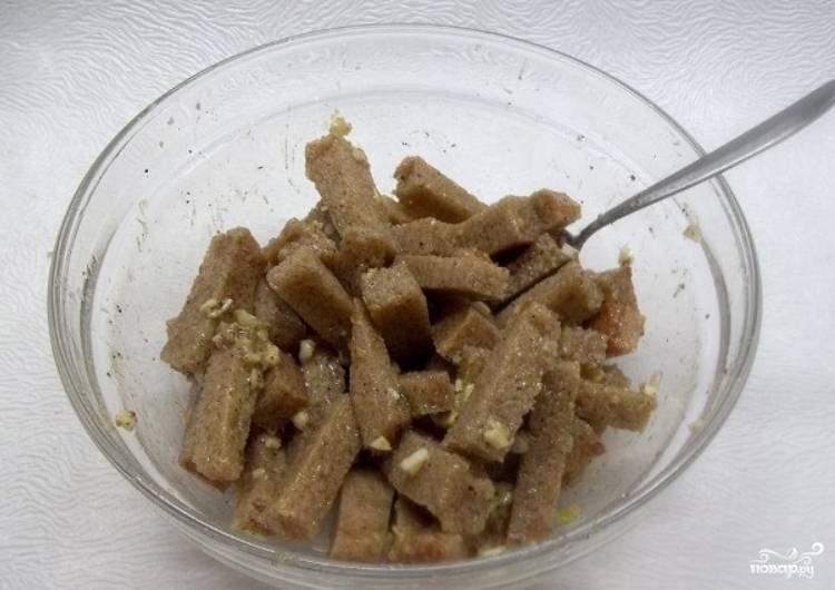 Гренки с чесноком к пиву - пошаговый рецепт