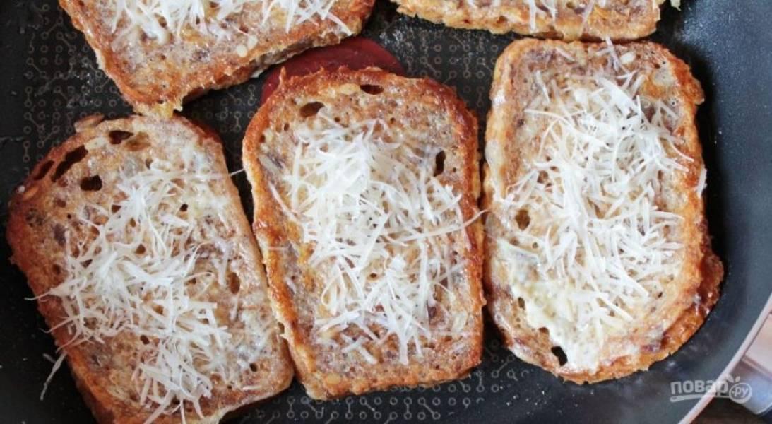 Гренки с помидорами и сыром к завтраку - пошаговый рецепт