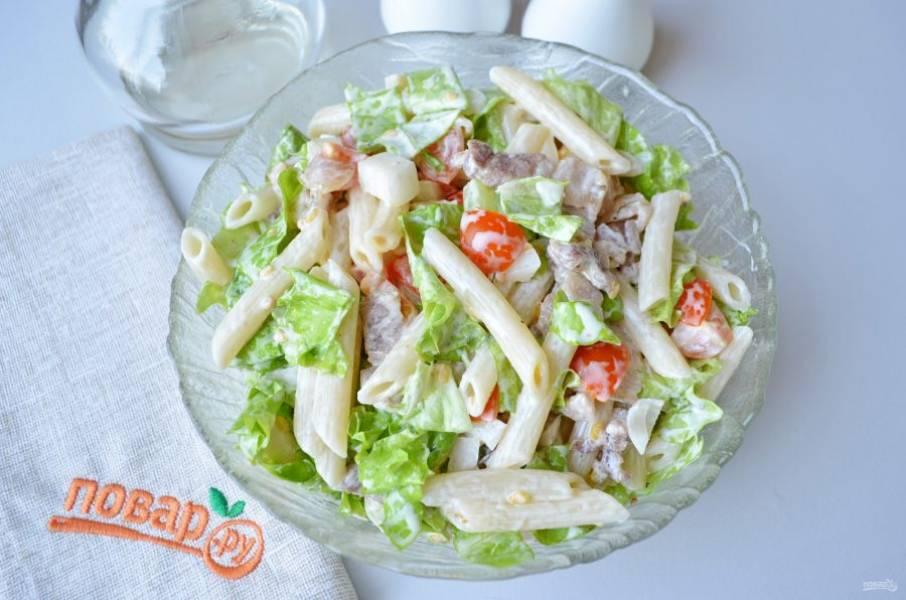 """Готово! Угощайтесь свежеприготовленным салатом """"5 элементов""""!"""