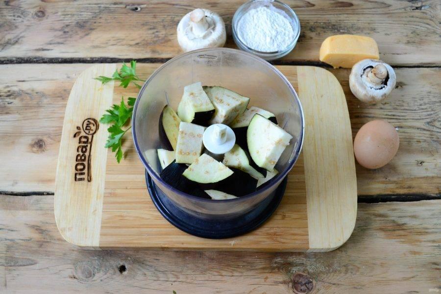 Котлеты из баклажанов с грибами - пошаговый рецепт