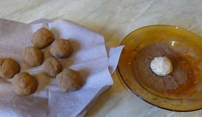 Пирожное - Картошка - без масла - пошаговый рецепт с фото на