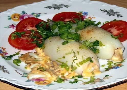 Кальмары с сыром в духовке - пошаговый рецепт
