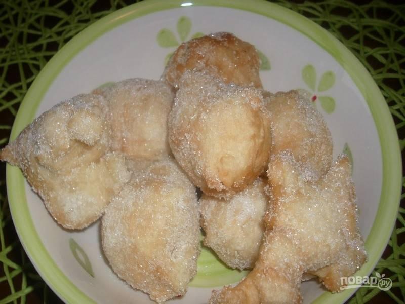 Пончики в сахаре - пошаговый рецепт с фото на
