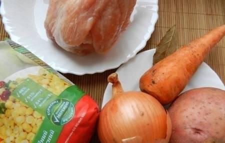 Гороховый суп с курицей пошаговый рецепт