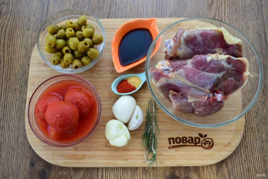 Курица в томатно-оливковом соусе - пошаговый рецепт
