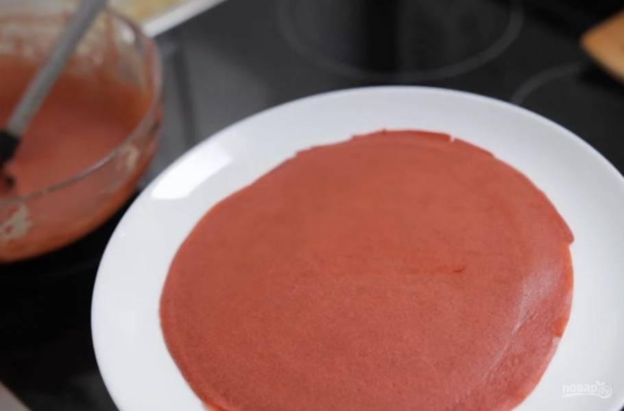 Блины - Красный бархат - пошаговый рецепт