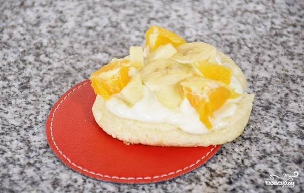 Печенье с фруктами - пошаговый рецепт