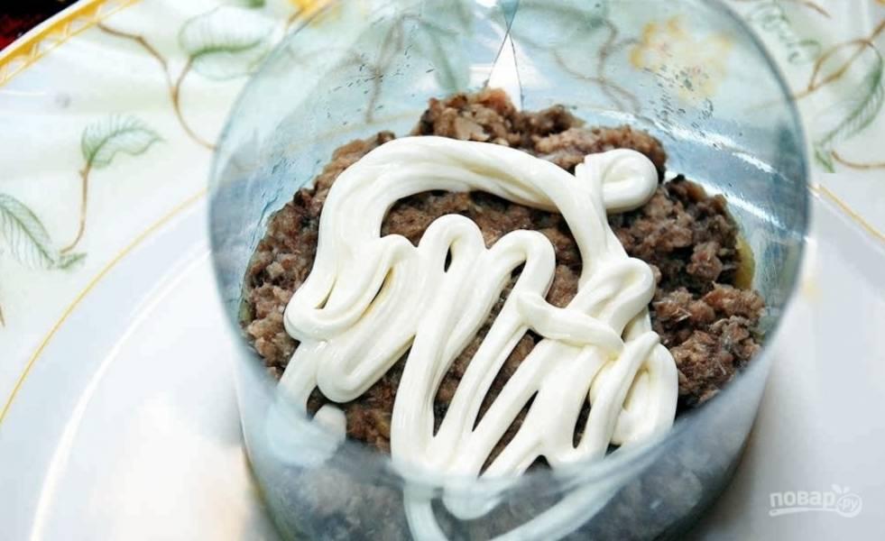 Мимоза - с консервой - пошаговый рецепт