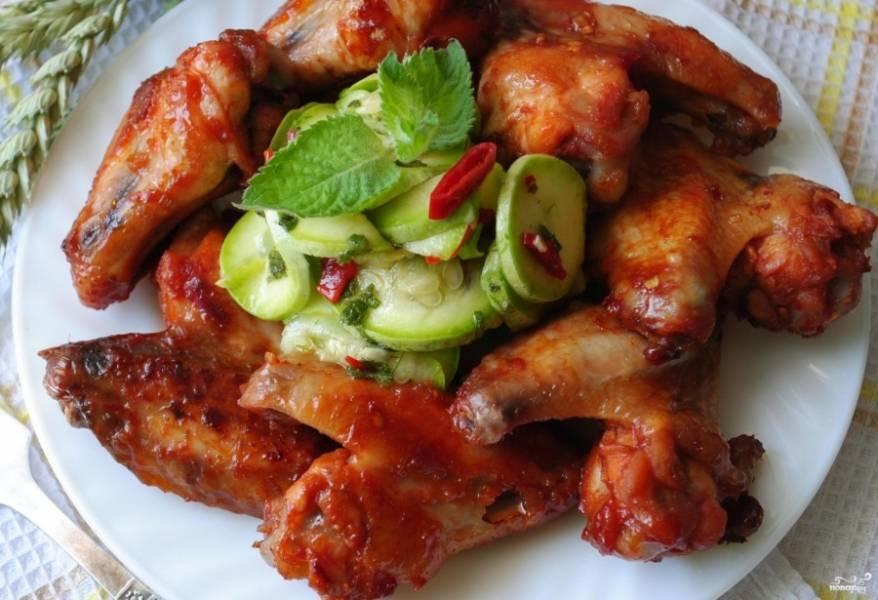 Куриные крылышки барбекю - пошаговый рецепт