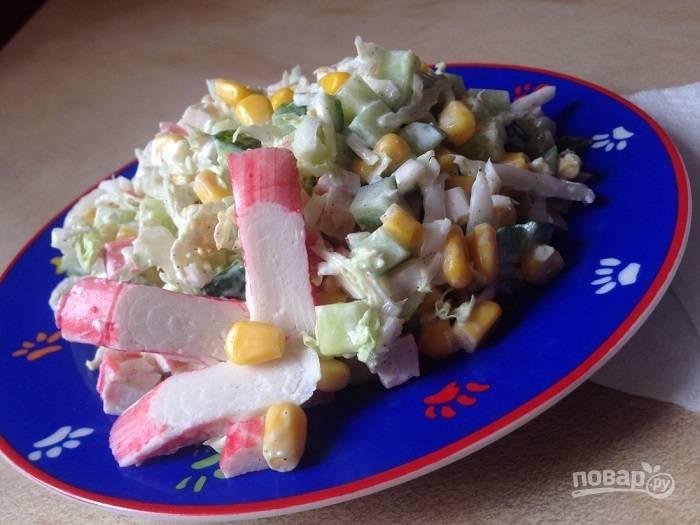 Крабовые палочки блюд