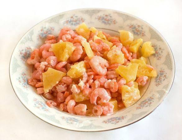 Креветки с ананасом и сыром - пошаговый рецепт с фото на