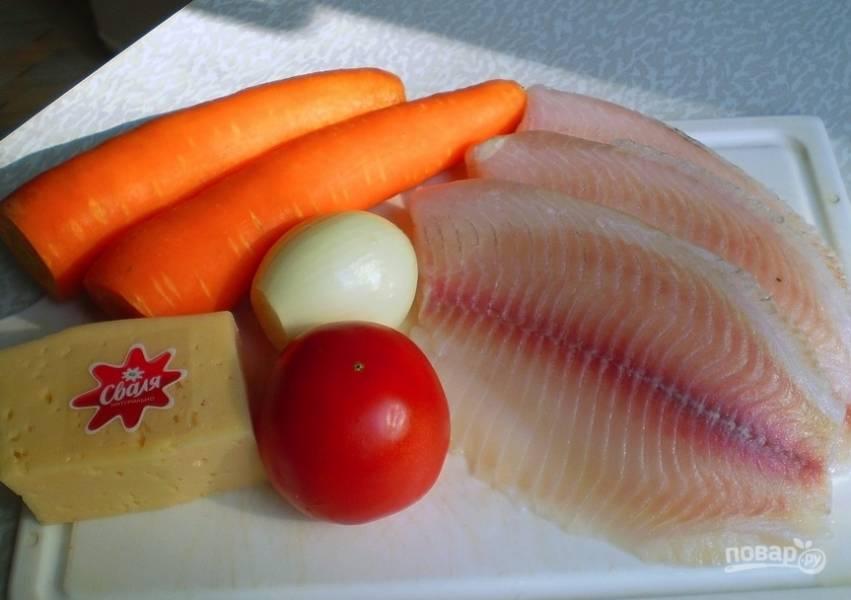 Тилапия с помидорами и сыром - пошаговый рецепт