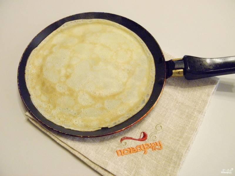 Вкусные тонкие блинчики - пошаговый рецепт