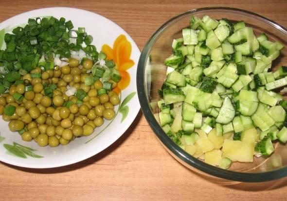 Идеальный консервированный горошек для салата не должен быть жестким.